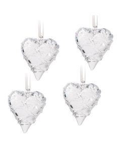 GLASS HEARTS 4PC