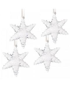 GLASS STARS 4PC
