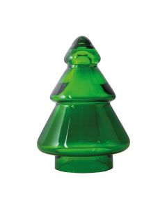 CHRISTMAS TREE GLASS GREEN 127 MM