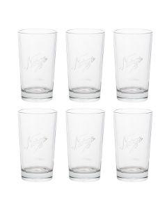 DRINKING GLASSES 400ML 6 PCS