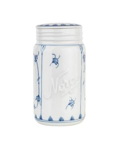 JAR WITH LID, PORCELAIN, 70 CL, HAND PAINTED