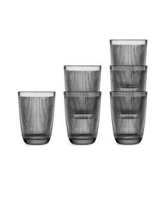 GLASS 30CL 6PCS SMOKY GRAY